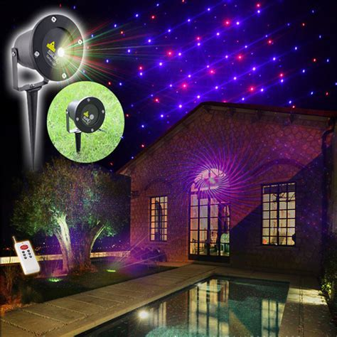 Outdoor Light Show Projector Laser Projector Waterproof Outdoor Led Landscape Lighting Garden Lawn With Remote 12 Patterns Rg