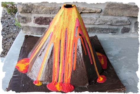How To Make A Volcano Out Of Paper - make a vinegar volcano with science