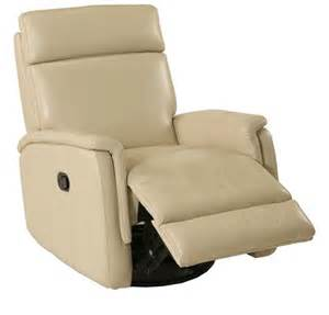 Leather Chaise Recliner Bermuda Taupe Swivel Rocker Recliner