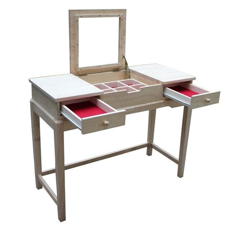 Unfinished Furniture Vanity Table Shop International Concepts Home Accents Unfinished Makeup Vanity At Lowes