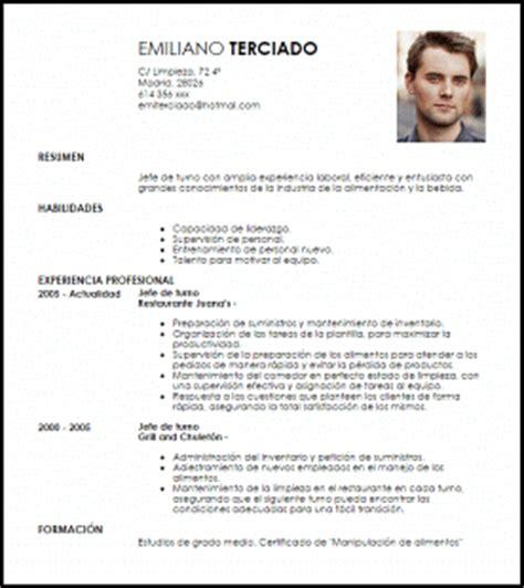 Modelo De Curriculum Vitae Jefe De Obra Modelo Curriculum Vitae Jefe De Turno Livecareer