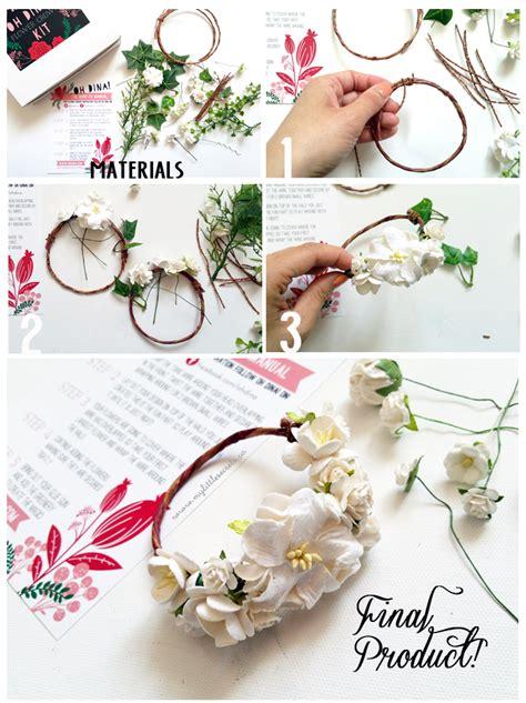 diy paper flower crown tutorial flower crown diy tutorial