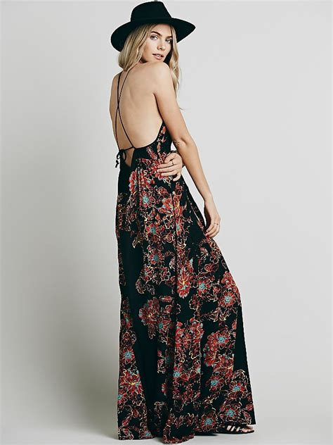 design dress cantik free people womens cantik maxi dress in black lyst
