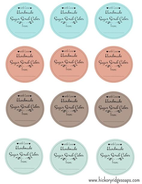 Free mason jar label template
