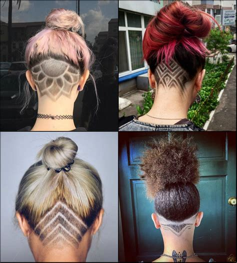 hairstyles showing the back of head cool undercut female hairstyles to show off long hairstyles