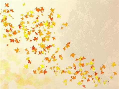 Fall Leaves Background Falling Leaves Nature Template Fall Backgrounds For Powerpoint
