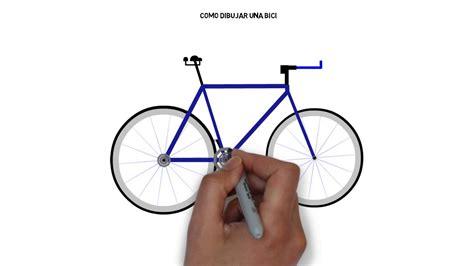 imagenes de bicicletas faciles para dibujar como dibujar una bici sencilla youtube