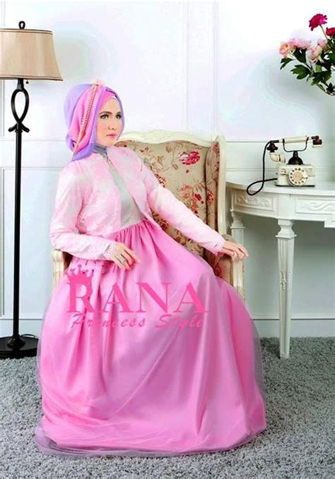 Gamis Pesta Rana Amora By Rana Pink Baju Muslim Gamis Modern
