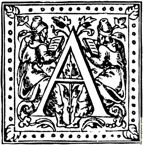 Inisial A initial capital letter a with scholars
