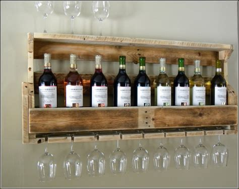 Keller Dining Room Furniture wall mounted homemade wine rack with glass shelf and