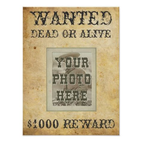 printable wanted poster wanted poster print zazzle