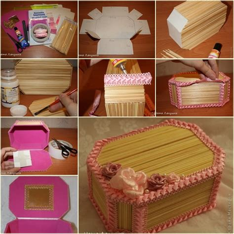 How To Make A Paper Jewelry Box - how to make beautiful jewelry box from wood sticks fab