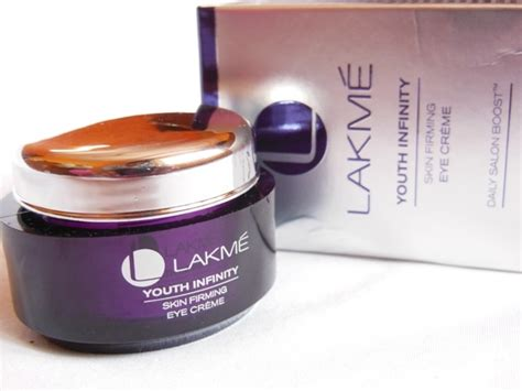 lakm youth infinity range products price list lakme youth infinity skin firming eye cream review