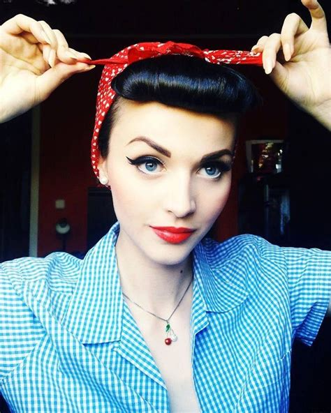 everyday rockabilly hairstyles real pin up girl pin up girls pinterest