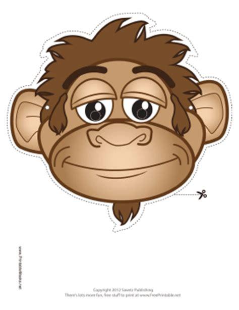 printable mask monkey printable monkey mask mask