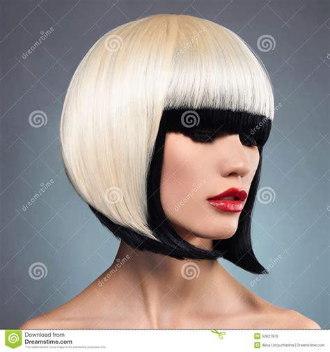 beautiful girl bob sexy woman with bob hairstyle stock photo image 52627970