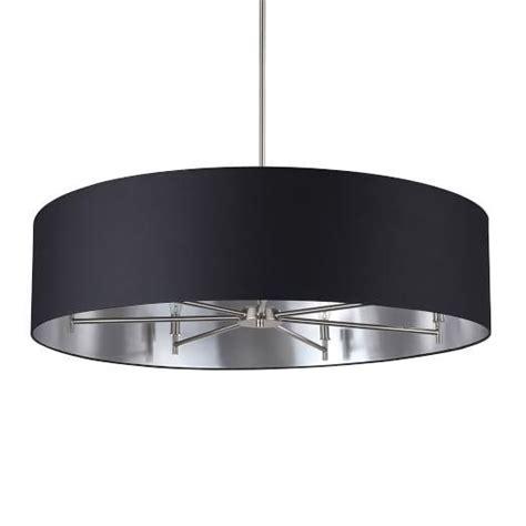 black drum shade chandelier black linen drum shade chandelier