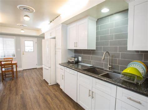 white  gray kitchen  quartz countertops hgtv