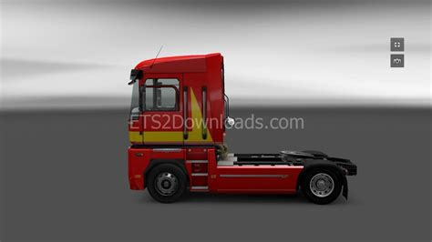 renault red red skin for renault magnum euro truck simulator 2 mods