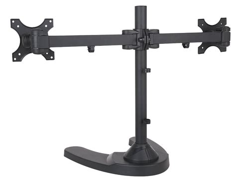 Freestanding Dual Two Lcd Monitor Desk Stand Haltermount Desk Mount Dual Monitor Stand