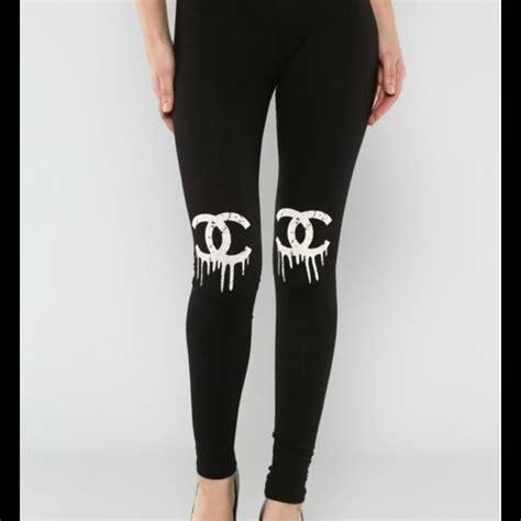 Chanel Pant 50 chanel cc leggings medium from jessicat s closet on poshmark