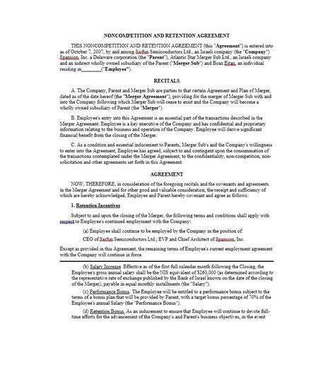 employee retention agreement template 39 ready to use non compete agreement templates template lab