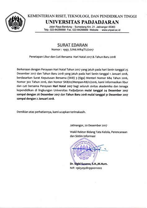 Contoh Undangan Resmi Karyawan by Format Surat Cuti Pns Narsu Ogradysmoving Co