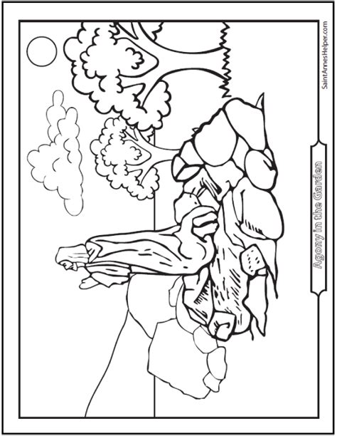 coloring pages jesus praying in the garden 40 rosary coloring pages the mysteries of the rosary