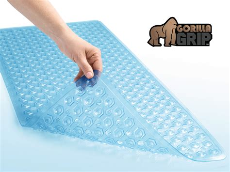 Length Non Slip Bath Mat by The Original Gorilla Grip Tm Non Slip Bath Mat Fits Any Size Bath Tub Ebay