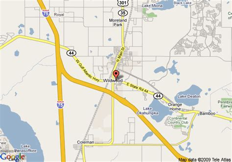 where is wildwood florida on the map map of 8 motel wildwood wildwood