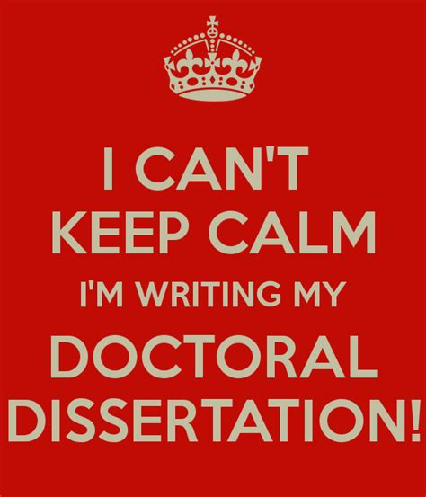 writing the doctoral dissertation writing doctoral dissertation