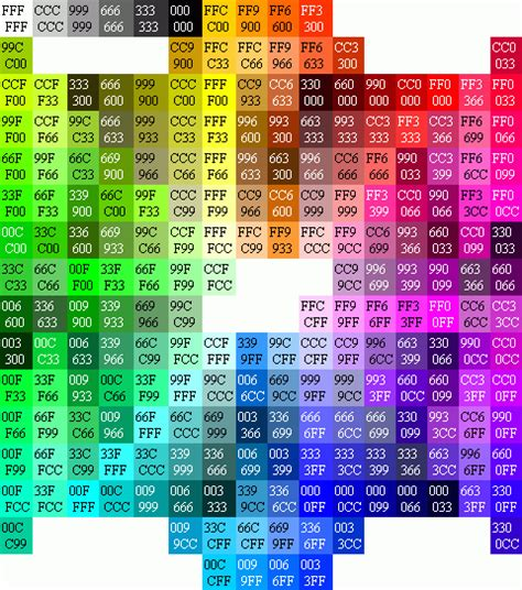 hex color colour a elements surrounding hexadecimal with colors