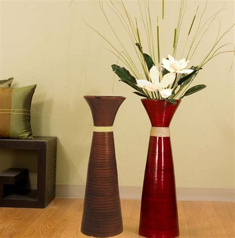 tall glass floor vases