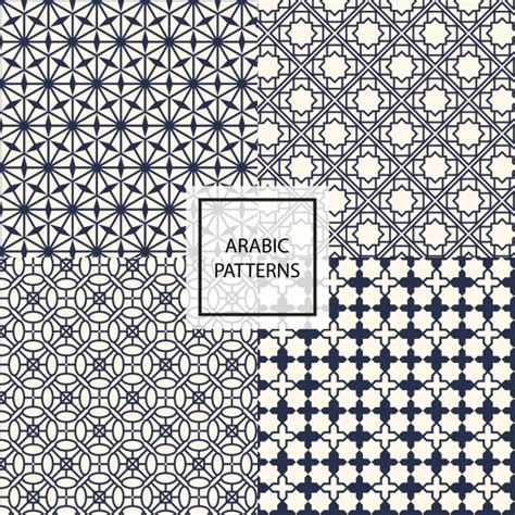 arabic pattern ai black arabic pattern vector free download
