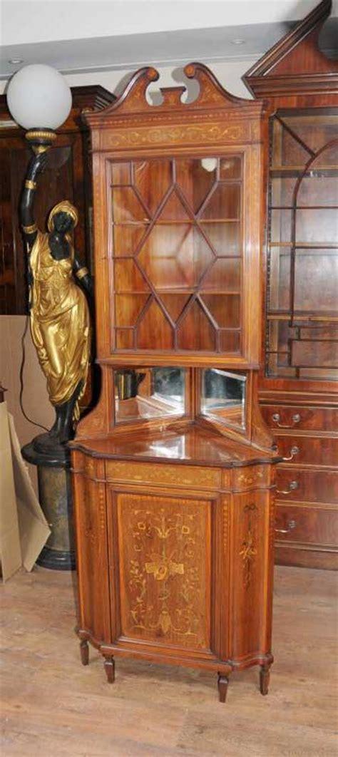 Antique Corner Bookcase Edwardian 1910 Antique Corner Cabinet Bookcase Furniture