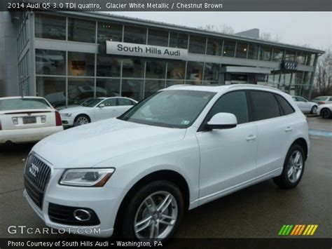 Audi Q5 Chestnut Brown Interior by Glacier White Metallic 2014 Audi Q5 3 0 Tdi Quattro