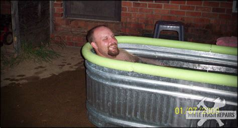 hillbilly bathtub redneck hot tub whitetrashrepairs com