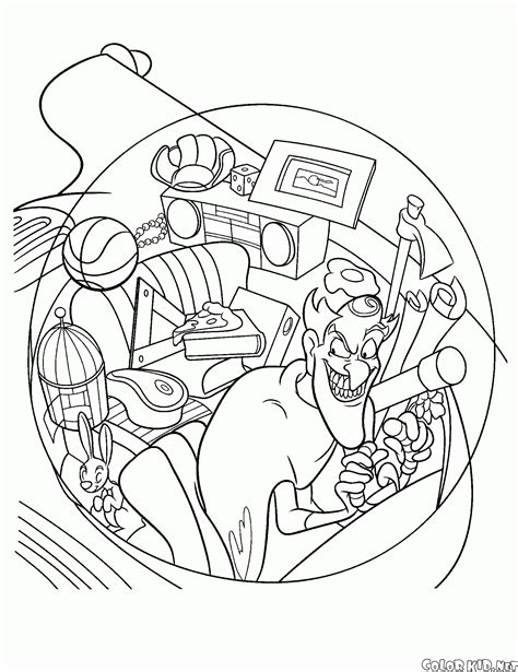 coloring page time travel