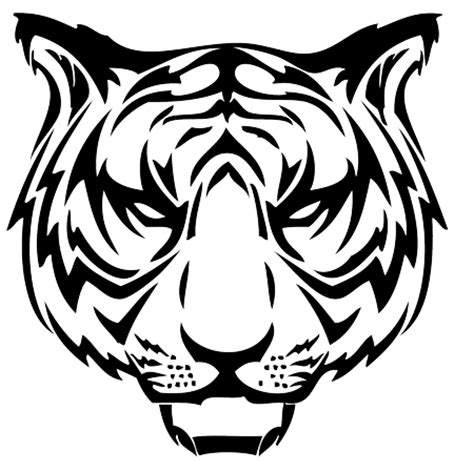 tribal tiger head tattoo black tribal tiger design