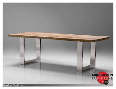 Dining Table With Stainless Steel Legs Stainless Steel Dining Table Provence Dining Table Reclaimed Solid Pine Wood Toppolished