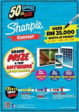 Facebook Sharpie Giveaway - 50 ways to use sharpie contest contests events malaysia