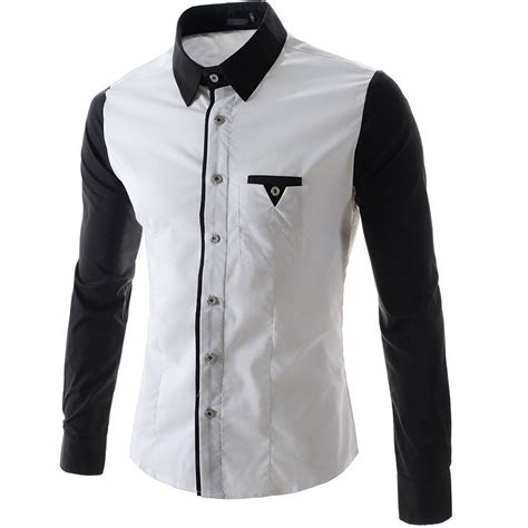 pattern black and white shirt new white shirt design custom shirt