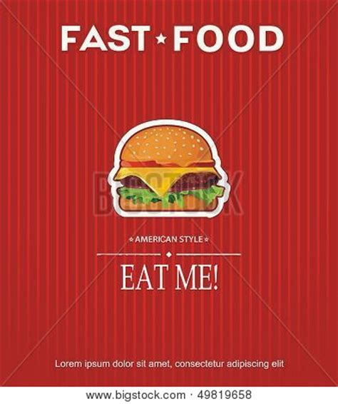 Fast Food Menu Card Templates by Restaurant Fast Food Menu Card Vector Photo Bigstock