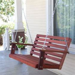 belham living richmond straight back porch swing with optional swing cushion porch swings at