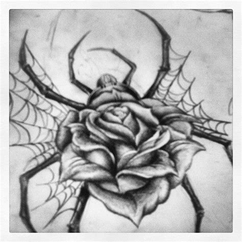 rose and spider web tattoo spider sketch ideas for me