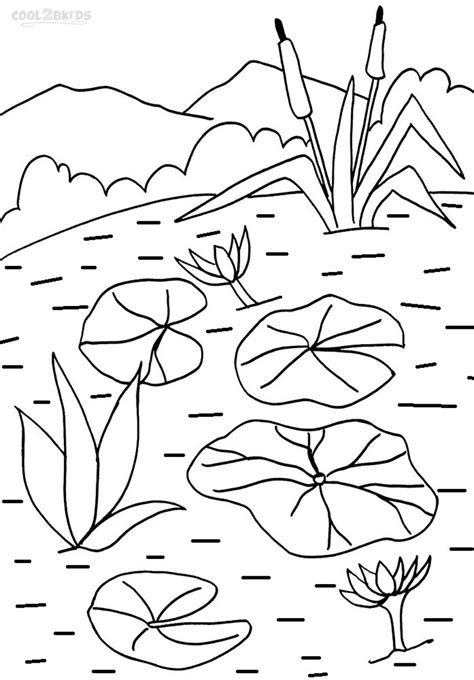Lily Pad Coloring Page Printable Coloring Pages Pad Coloring Page