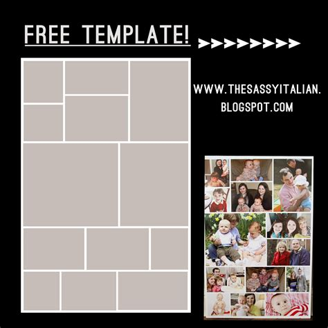 20x30 collage template the sassy italian how to create poster collage free