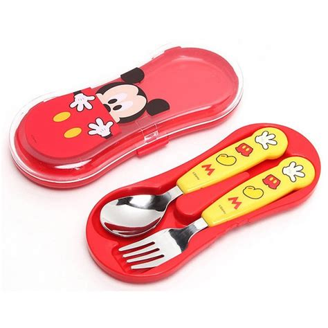 Mickey Set lilfant mickey mouse spoon fork set with babyonline