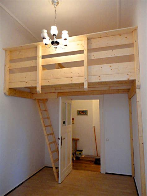 Großes Bett Selber Bauen selbstgebautes hochbett