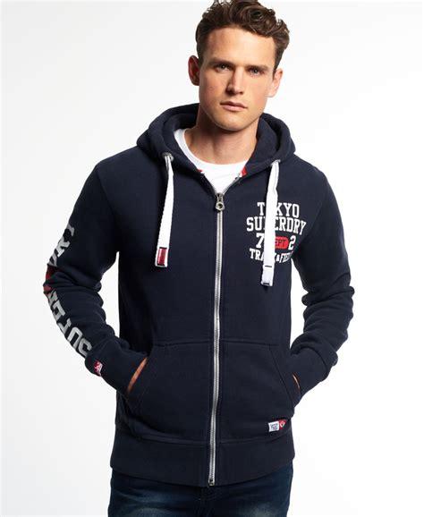Zipper Hoodie Pym Technologi 2 new mens superdry trackster zip hoodie truest navy ebay